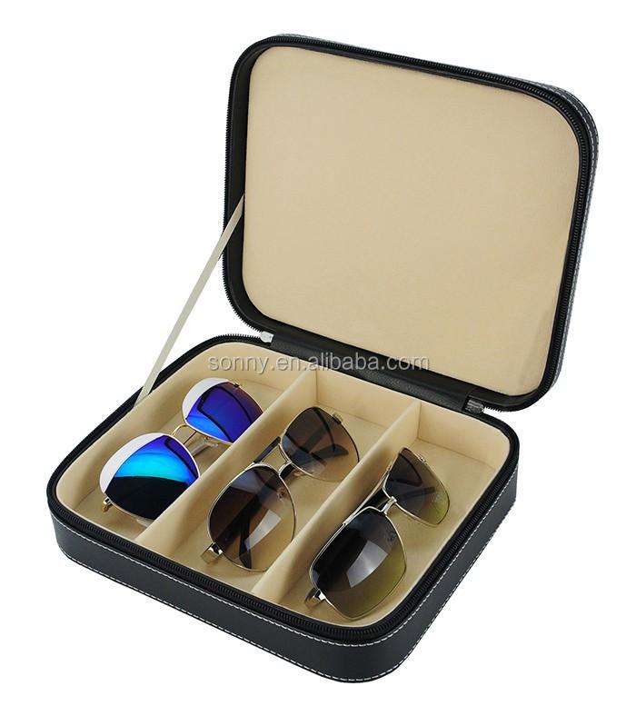 050859b4c 3 Pares Caixa De Óculos De Sol De Couro De Viagem Caso Disponível ...