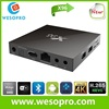 2016 Wholesaler X96 Android 6.0 TV Box 2G/16G Amlogic S905X Chip 4K Kodi Full HD Smart Media Player TX95 Set