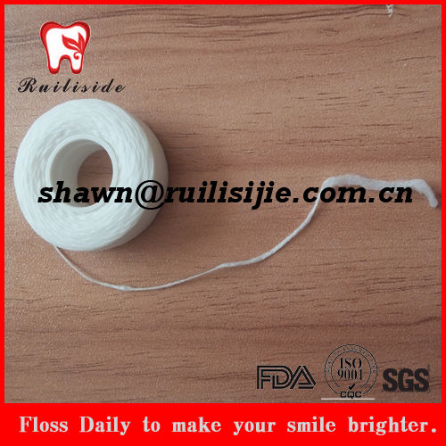 Semi dental floss products refilled expanding floss spool thread