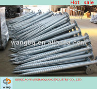 Factory of galvanized ground screw anchor for fence and garden building with low price and high quality