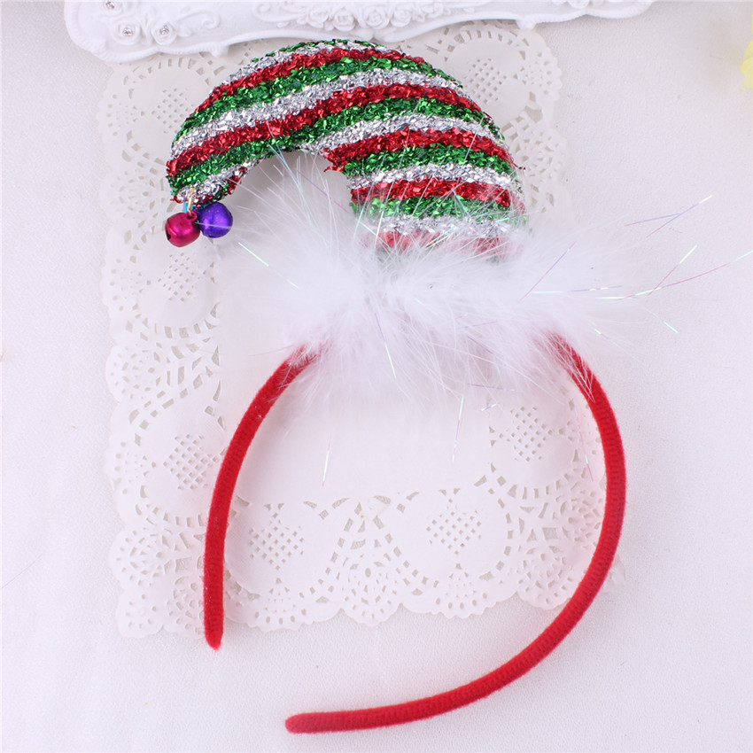 2017 christmas belt buckle ornaments holiday hair band new children's christmas hat hoop party head buckle