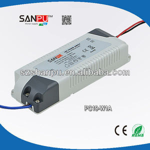19w plastic standard type waterproof led power suppliers,instant power supply
