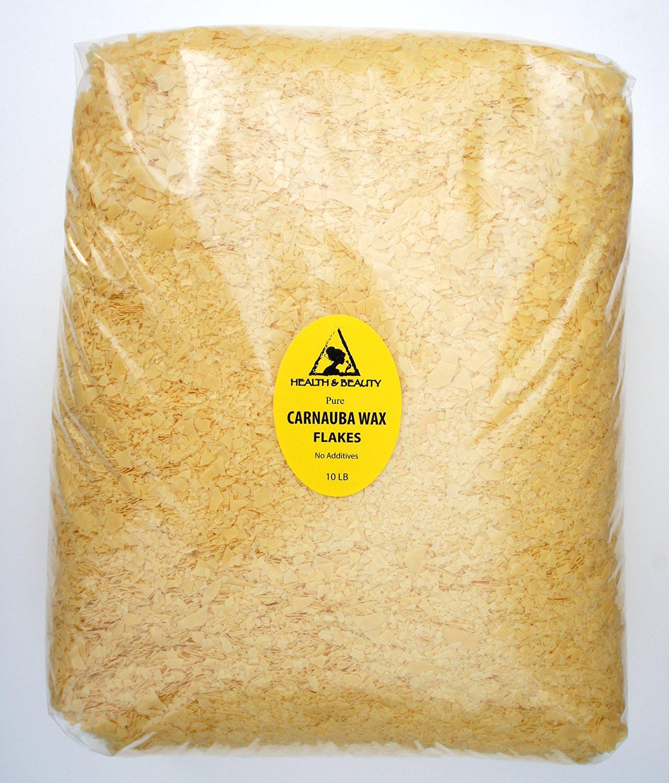 Carnauba Wax Organic Flakes Brazil Pastilles Beards Premium Prime Grade A 100% Pure 10 LB