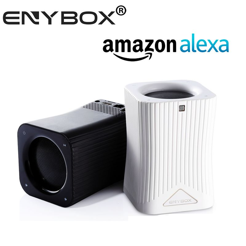 Enybox brand Android 6.0 HF10 speaker tv box works with Alexa smart bluetooth speaker with volume control remote