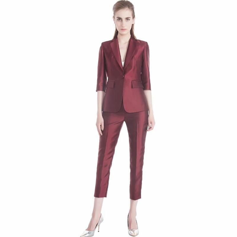 4b4c84c66f54 Comprobado Slim Fit Blazer traje nuevo traje de pantalón de abrigo diseño  señoras traje de oficina