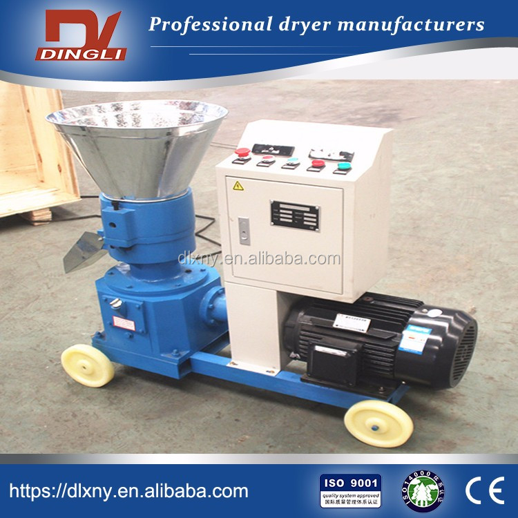 300-350kg/h Small Flat Die Bamboo Chips Pelletizer for Bamboo Fuel Pellets