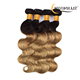 1b 27 Color Hair Bundle Body Wave Brazilian Ombre Hair Extensions Weaves Human Hair Weft