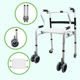 Hot Sale Handicap Factory Price Aluminum Assistant Foldable Elderly Walker with Seat