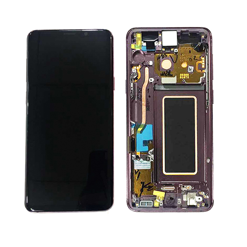 Mobile phone lcd for samsung galaxy s9 G960 lcd touch screen display assembly with frame