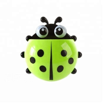 Cute ladybug beetle toothbrush toothpaste shelf children brushing bathroom supplies storage rack and shelf