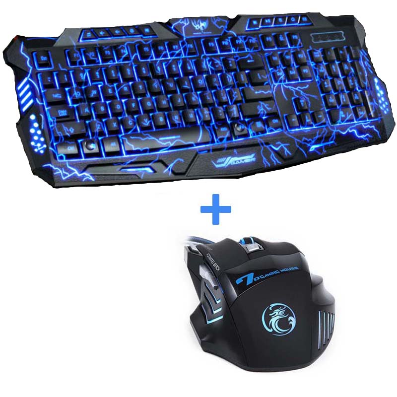 purple blue red led breathing backlight pro gaming keyboard mouse combos usb wired full key. Black Bedroom Furniture Sets. Home Design Ideas