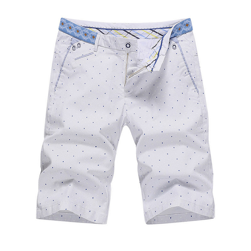 New 2015 Summer Casual Mens Shorts Polka Dot Polo Golf Shorts Plus Size Workout Shorts Men Knee Length Short Trousers SMP896524