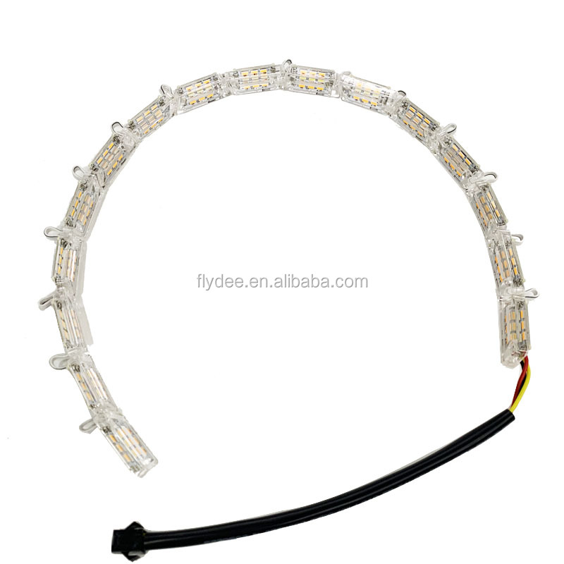 High quality dual color white yellow flexible switchback crystal tear LED strip DRL day time running light for Audi