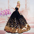 LeadingStar Dress with Lots of Gold Sequins Made to Fit for the Barbie Doll Great Children