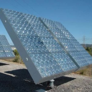 5KW off grid concentrated photovoltaic CPV system solar power plant with dual axis tracker and fresnel lens