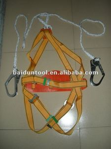 Double bigger hooks hunting full body safety harness industrial safety belt