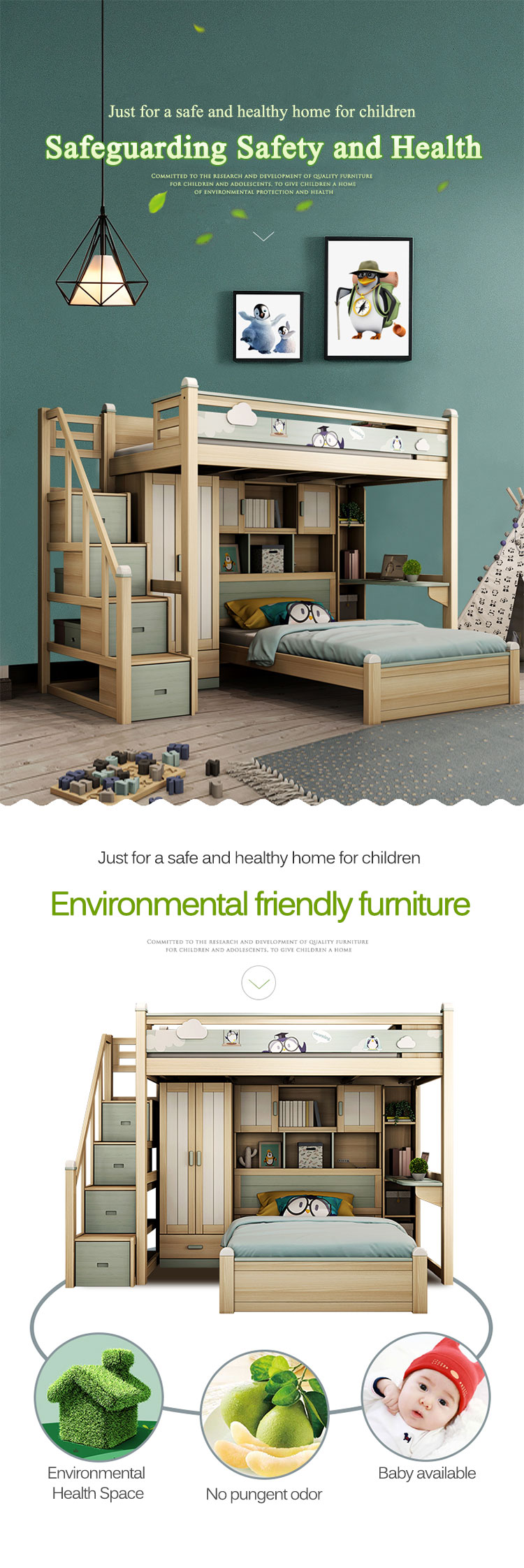 Picture of: Bedroom Furniture Bunk Bed Multi Functional Elevated Bed Space Saving Kids Bunk Bed With Wardrobe Buy Bedroom Furniture Bunk Bed Multi Functional Elevated Bed Kids Bunk Bed With Wardrobe Product On Alibaba Com