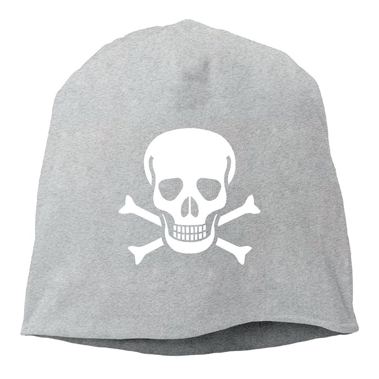 d2d262a957e Get Quotations · Newking Skull Crossbones Unisex Skull Beanie Knit Hat Cap
