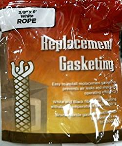 "Imperial Mfg Group 202 3/8""X6"" White Gasket Rope"