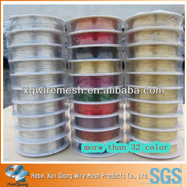 Craft colored metal wire/colored beading wire/jewellery making wire