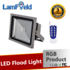 RF Distance Control 10W 20W 30W 50W 100W LED RGB Flood Light For Outdoor Lighting