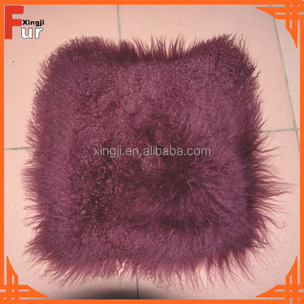 Fur Car Seat Cushion Mongolian Lamb Fur
