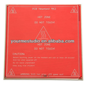 3D Printer Heat Bed Set Hotbed MK2,Aluminium Bed Mount Plate,Borosilicate  Glass