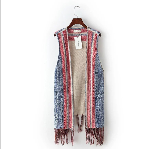 MS60123L sleeveless design fashion fall european knitted cardigan