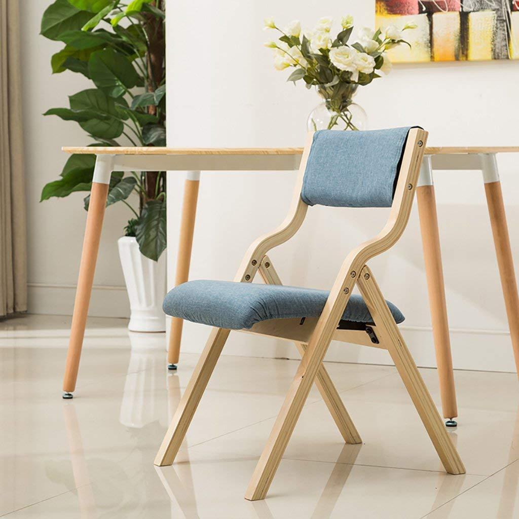 JHZDY Wooden Folding Chairs Household Solid Wood Chairs Folding Chairs Modern Dining Room Leisure Chairs Back Chairs Stools (Color : 3#)