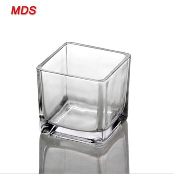 Best Home Decor Small Glass Square Vases For Florist Buy Square