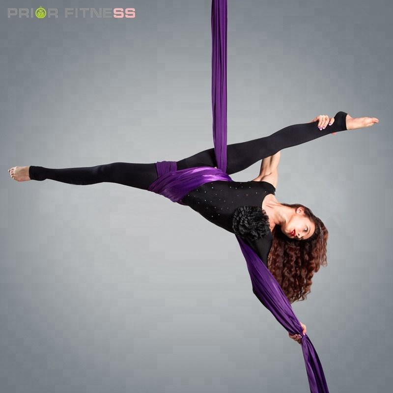 High Quality Silky Nylon 900KG Capacity Low Stretch Aerial Yoga Hammock High Strength Aerial Silk For Acrobatic Flying Dance фото