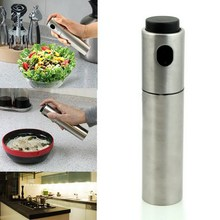 ASLT 1Pcs Stainless Steel Spray Pump Fine Mist Olive Pump Spray Bottle Oil Sprayer Pot Cooking Tool HOT Free Shipping