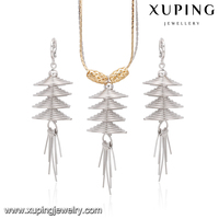 Rural style promote price artificial jewelry, fashion jewelry set,indian cubic zirconia jewelry necklace sets