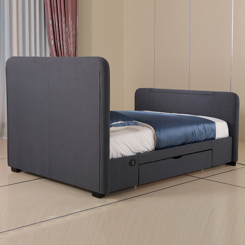 Lift Up Tv Storage Bed Frame Fabric