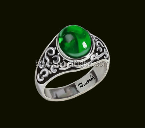 plain 925 jade value silver ring
