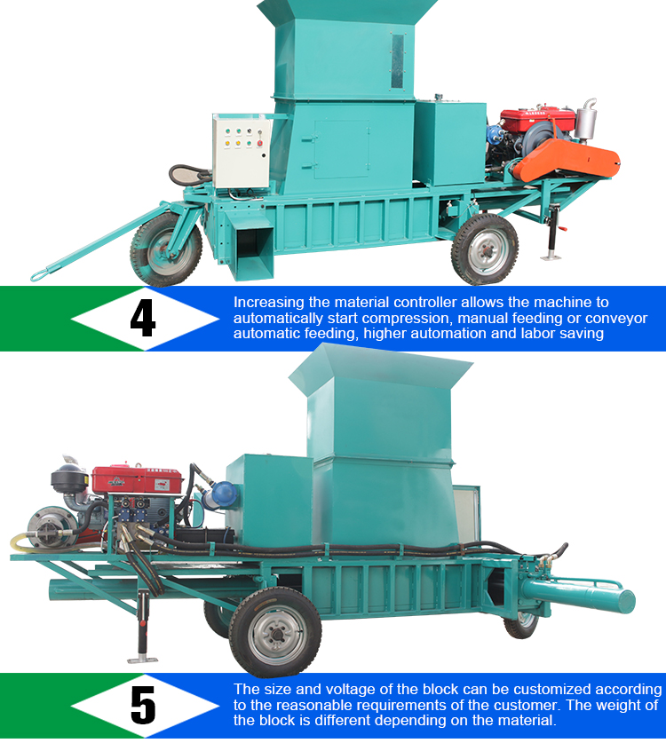 Shuliy mobile forage baler baling machine wood chip baler machine