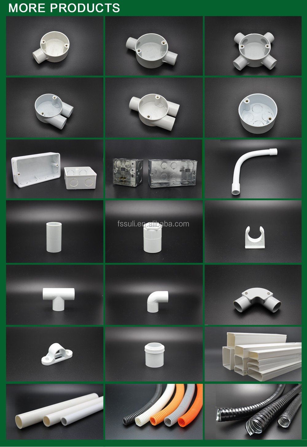 Wiring Accessories 32mm PVC Bend Pipeelectrical Pvc Pipe Sizesplastic Electrical Conduit