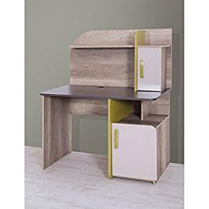 Writing Computer Desk Modern & Simple Wood White Modern Design Art Smooth Geometrical Shape Study Desk Industrial Style Study & Laptop Table for Home, Office, Living Room, Study Room