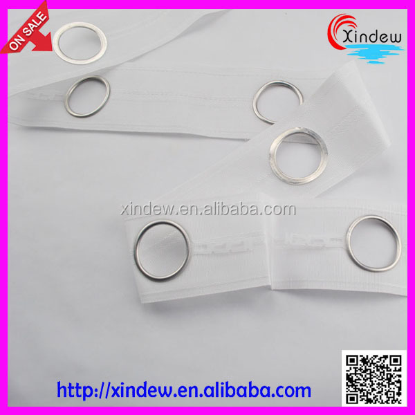 high quality silver eyelets curtain tape with rings