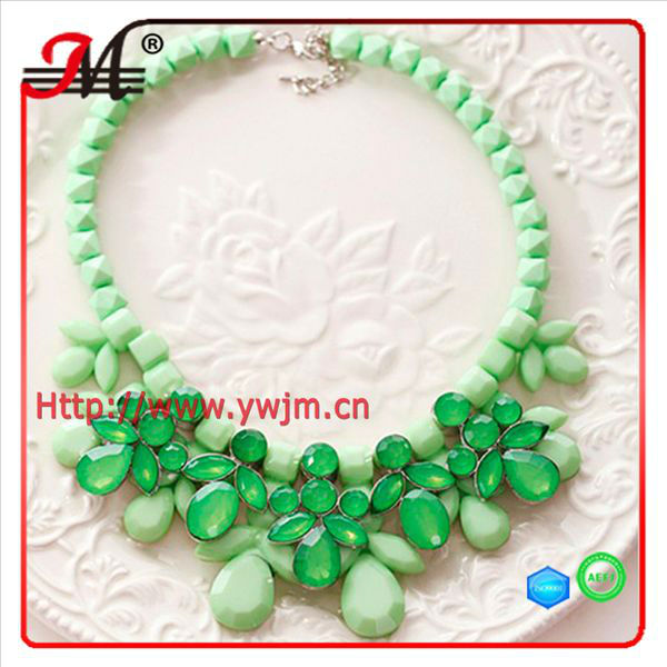 NK4483 Green Resin stone necklace jewelry