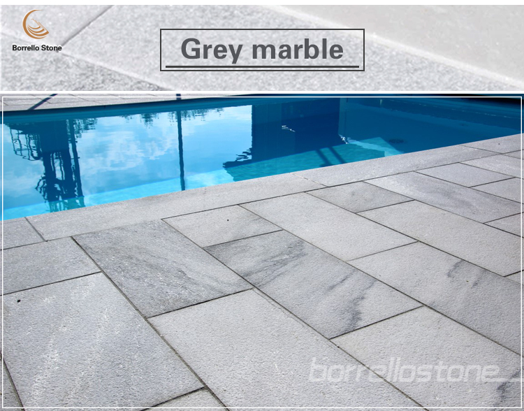 natural grey marble tiles and slab