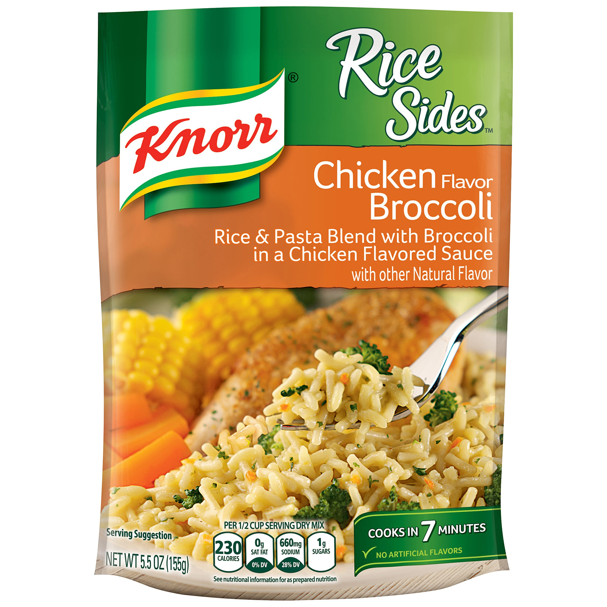 Knorr Rice Sides Rice Side Dish, Chicken Broccoli 5.5 oz