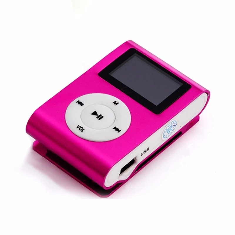 OEM Mini Digital Compacta MP3 Player com Leitor de Multimídia Tela LCD