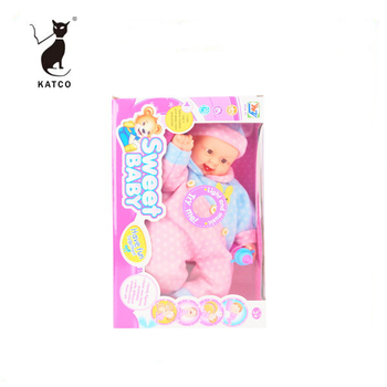 2019 New Products Hot Sales Children Gift 14 Inch Vinyl Real Doll With Cotton Cloth