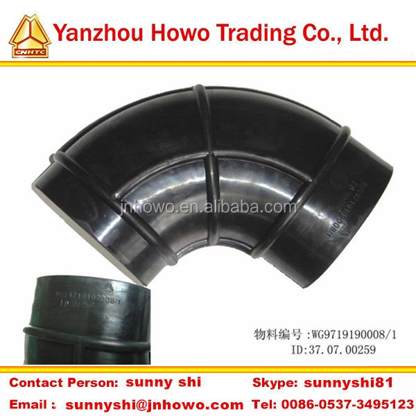 SINOTRUK HOWO ruck parts flexible rubber hose WG9719190008