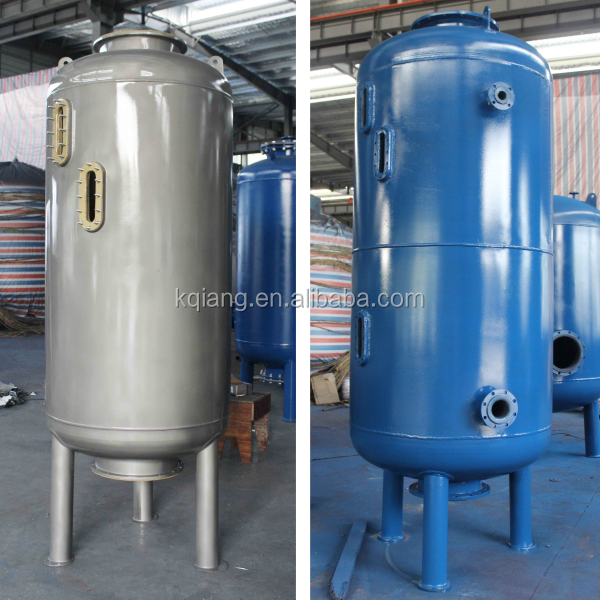 Active carbon water filter/stainless steel mechanical filter vessel