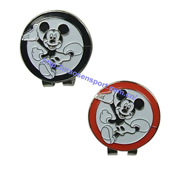 New Strong Magnetic golf hat cap clip with micky house golf ball marker