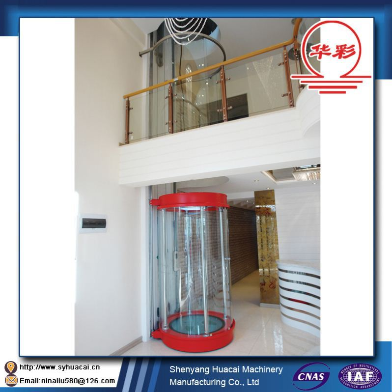 HC-320 Factory service family use SGS Customized rack and pinion elevator