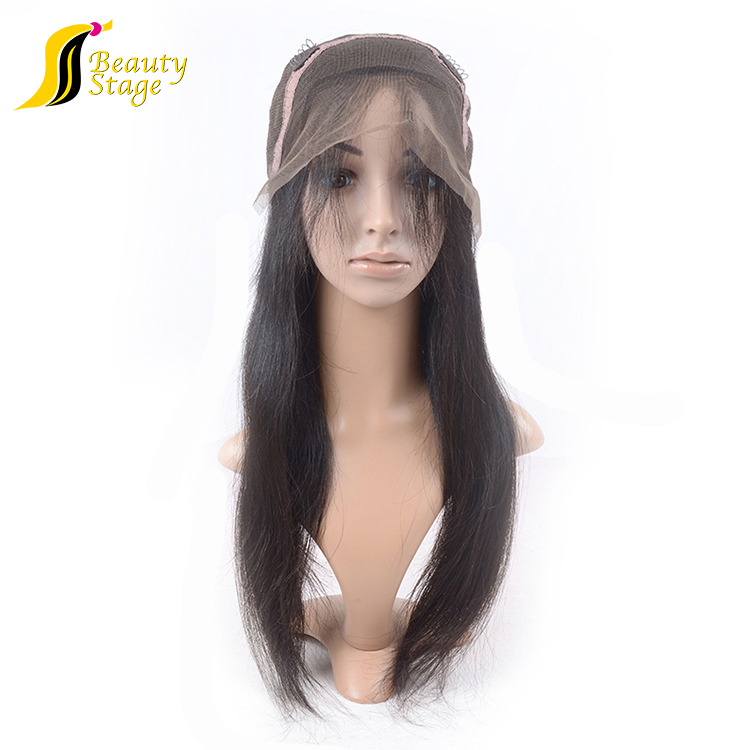 Ideal excellent class straight glue men human hair wig