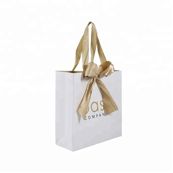 Fashion Elegant Luxury Shopping Custom Logo Design Printing Jewelry Gift Packaging Paper Bags
